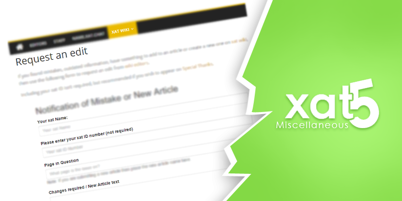 xat wiki request an edit